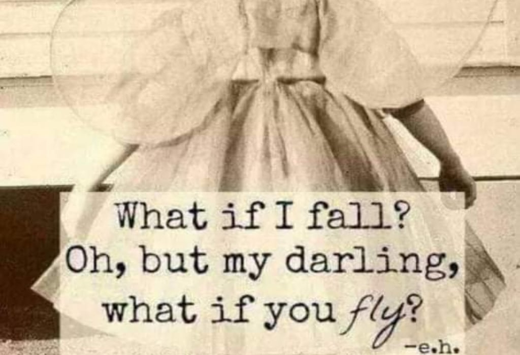 Freies Fallen: https://me.me/i/what-if-i-fall-oh-but-my-darling-what-if-3373162