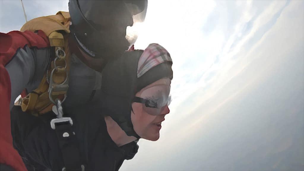 Fallschirmsprung zum Geburtstag